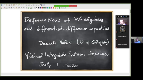Thumbnail for entry Deformations of W-algebras and differential-difference equations - Daniele Valeri