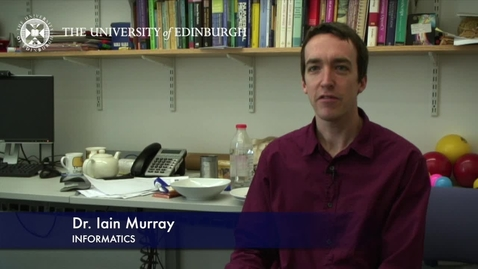 Thumbnail for entry Iain Murray - Informatics - Research In A Nutshell - School of Informatics -18/03/2013