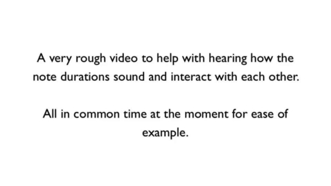 Thumbnail for entry Rhythmic Durations Audio Example