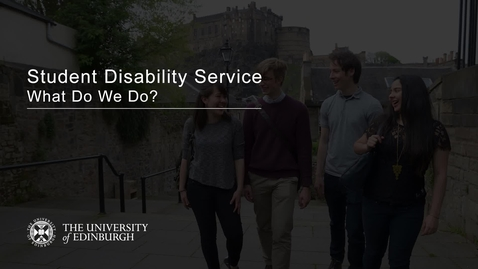 Thumbnail for entry Student Disability Service - What Do We Do