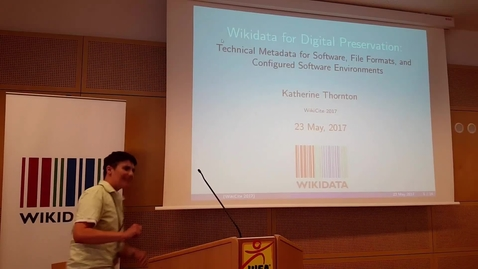 Thumbnail for entry Wikidata for Digital Preservation - Katherine Thornton (Digital Conservator at Yale University Library)