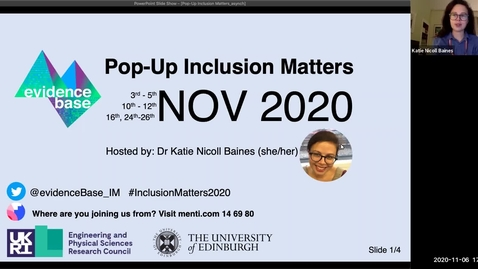 Thumbnail for entry 1. Introduction to Pop-Up Inclusion Matters 2020