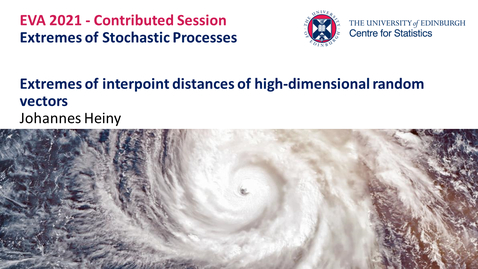 Thumbnail for entry Extremes of Stochastic Processes: Johannes Heiny