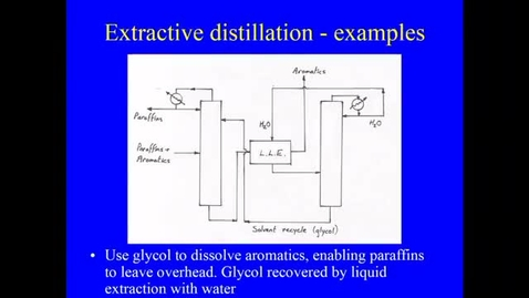 Thumbnail for entry Distillation Lecture 7 Choice of mass Separating agent