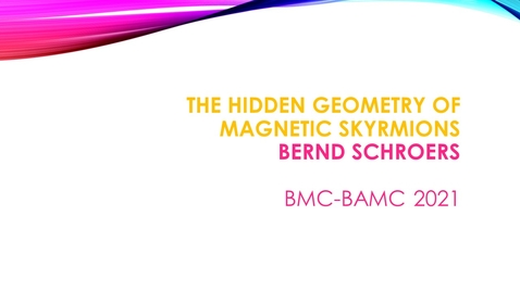 Thumbnail for entry BMC BAMC 2021 Bernd Schroers