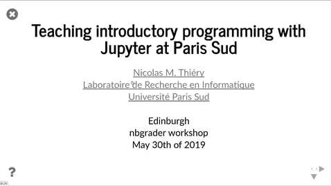 Thumbnail for entry Nicolas Thiery - Université Paris-Sud