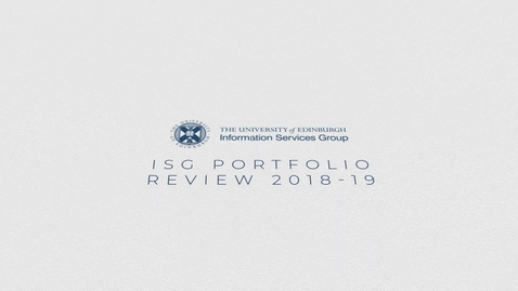 Thumbnail for entry Project Services ISG Team Annual Review 2018/19