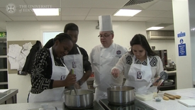 Thumbnail for entry Students cook up a taste of Africa