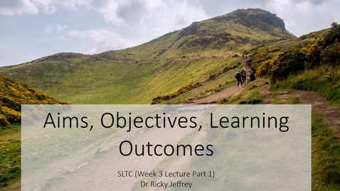 Thumbnail for entry SLTC Week 3 Lecture Video.mp4