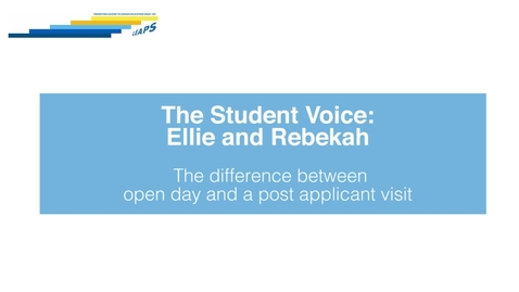 Thumbnail for entry LEAPS - The Student Voice: Ellie and Rebekah