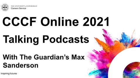Thumbnail for entry Talking Podcasts - CCCF Online 2021
