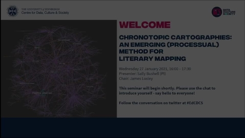 Thumbnail for entry Chronotopic Cartographies: An Emerging (Processual) Method for Literary Mapping