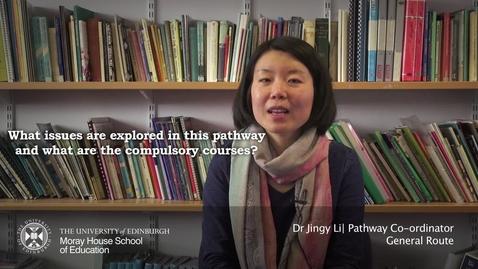 Thumbnail for entry Jingy Li | Pathways