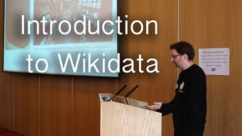 Thumbnail for entry An introduction to Wikidata by Ewan McAndrew at Repository Fringe 2016 | Wikimedia UK