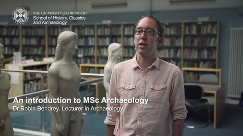 Thumbnail for entry An introduction to MSc Archaeology
