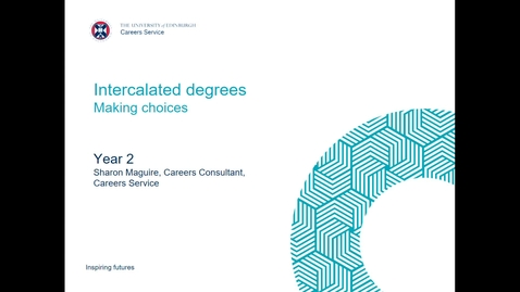 Thumbnail for entry Intercalated degree for medical students - making choices October 2020