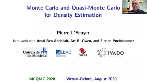Thumbnail for entry Pierre L'Ecuyer    Quasi-Monte Carlo for Density Estimation (MCQMC 2020)