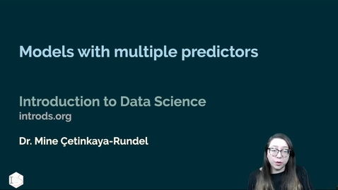 Thumbnail for entry IDS - Week 08 - 05 - Models with multiple predictors
