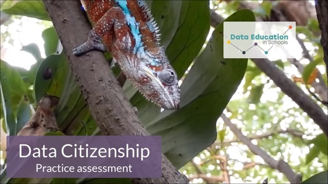 Thumbnail for entry Data Citizenship Level 4-5 Zoo activity Part 6c
