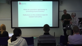 """Thumbnail for entry Charlie Foster   PAHRC Seminar Series   """"What are population approaches to promoting physical activity?"""""""