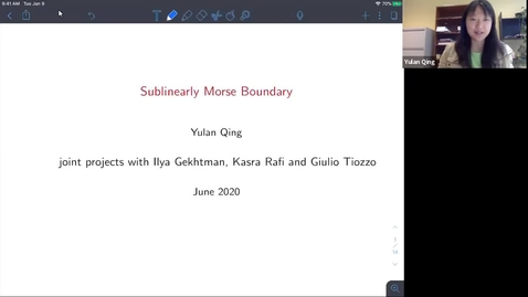 Thumbnail for entry The sub-linearly Morse boundary  - Yulan Qing
