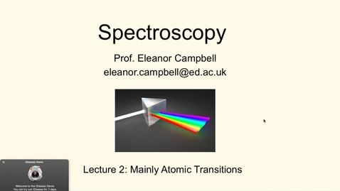 Thumbnail for entry Chem1 Spectroscopy Lecture2