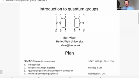 Thumbnail for entry Introduction to quantum groups - Bart Vlaar