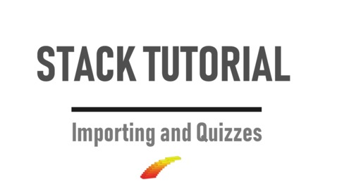 Thumbnail for entry Importing and Quizzes - STACK Tutorial