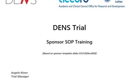 Thumbnail for entry DENS Trial SOP Training slides