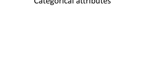 Thumbnail for entry Categorical (Nominal) Attributes