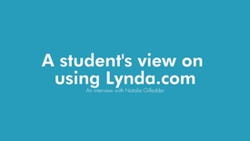 Thumbnail for entry A student's view on using Lynda.com - An interview with Business School student, Natalie Gilfedder