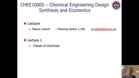 Thumbnail for entry Lecture 1 - Classes of Chemicals