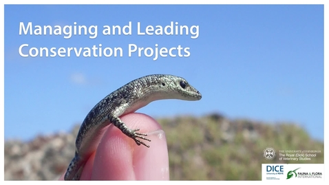 Thumbnail for entry Managing and Leading Conservation Projects