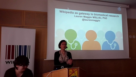 Thumbnail for entry Is Wikipedia a gateway to biomedical research? - Lauren Maggio at WikiCite 2017