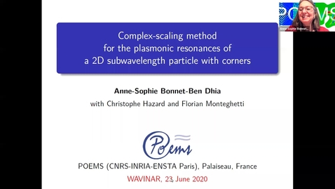 Thumbnail for entry Waves in Complex Continua (Wavinar): Anne-Sophie Bonnet-Ben Dhia (ENSTA Paris)