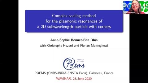 Thumbnail for entry Waves in Complex Continua (Wavinar): Anne-Sophie Bonnet-Ben Dhia (ENSTA Paris)
