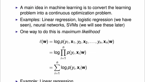 Thumbnail for entry Optimisation in Machine Learning