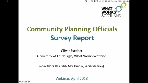 Thumbnail for entry Community Planning Officials Survey Report: Webinar