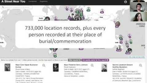 Thumbnail for entry A Street Near You  - exploring the potential of enhancing large datasets focused on the First World War