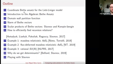 Thumbnail for entry South East Mathematical Physics Seminars: Juan Miguel Nieto García (Lecture 2)
