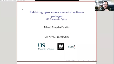 Thumbnail for entry UK-APASI in Mathematical Sciences: Eduard Campillo-Funollet (Sussex)