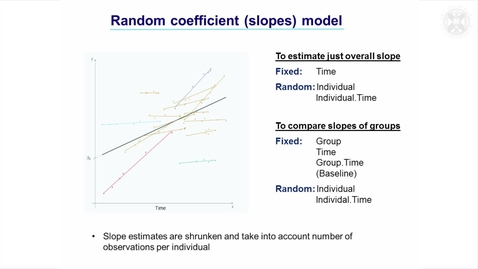 Thumbnail for entry 8. Random Coefficients (Slopes) Models