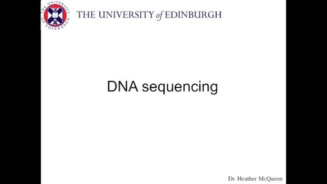 Thumbnail for entry DNA sequencing