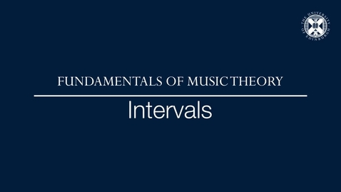 Thumbnail for entry Fundamentals of music theory - Intervals