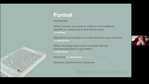 Thumbnail for entry The Manifesto for Teaching Online: Dr Jen Ross 'Online courses are prone to cultures of surveillance'