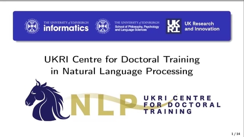 Thumbnail for entry UKRI CDT in Natural Language Processing