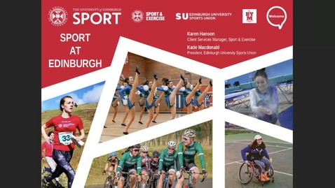 Thumbnail for entry How-To join sport at Edinburgh