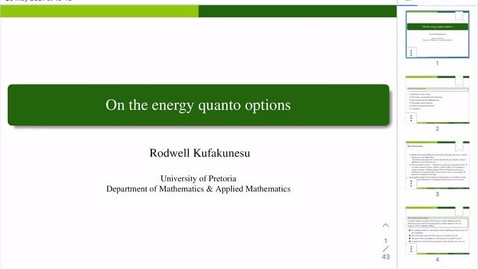 Thumbnail for entry UK-APASI in Mathematical Sciences: Rodwell Kufakunesu