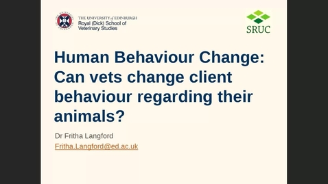 Thumbnail for entry Human behaviour change