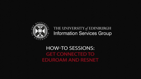 Thumbnail for entry (UG and PG) How-To: connect to eduroam